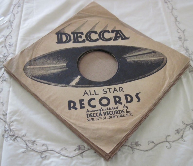 Lot of 16 Decca Records Vintage Paper Record Sleeves for 10