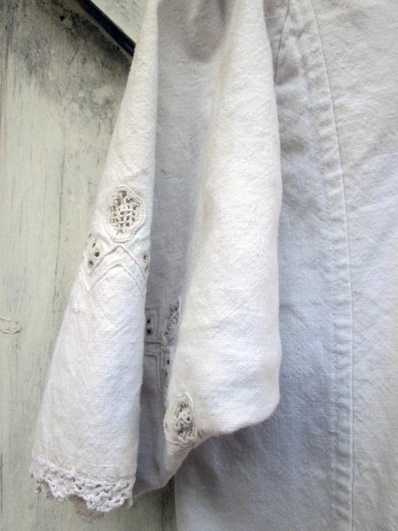 ON SALE Antique Linen Romanian Dress//Peasant//Ha… - image 2