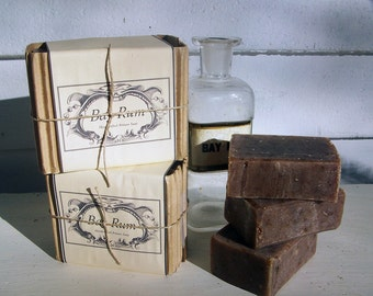 BAY RUM Soap Three Cakes Best Seller!