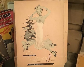 2eae06a2b4 Vintage 1940s 1950s Box Lid  DEENA  Ladies Slips Great Graphics Decor Arts  Crafts Collectible Scrap Booking Photography Prop Sold As Is!!