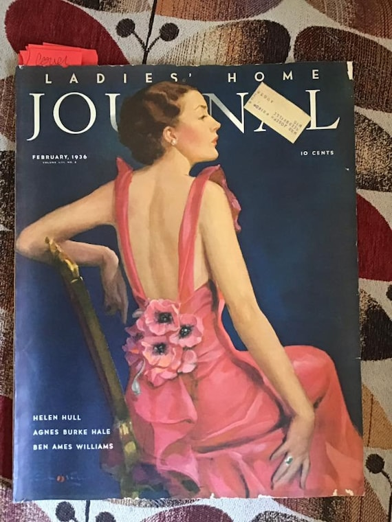 Vintage Dated 1936 Magazine Ladies Home Journal 122 Pages Etsy