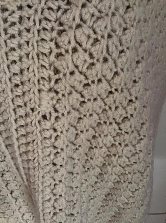 Vintage 1980's 1990's Sweater Vest Hand Knit/Croc… - image 2
