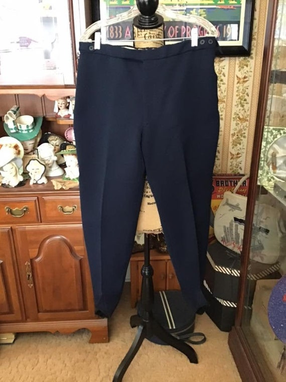 Vintage 1940's 1950's Pants Ski/Winter Dark Blue W