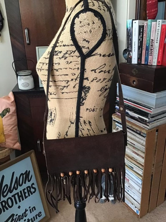 Vintage 1960s 1970s Purse Shoulder Bag Genuine Sue