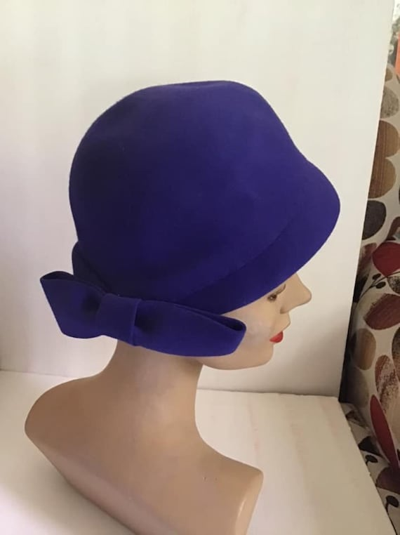 Vintage 1950's 1960's Hat Light Blue *Dachettes De