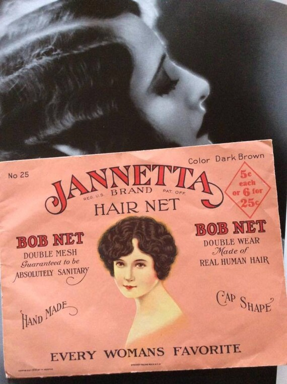 Vintage 1930s Hair Net Genuine Human Hair Bob Net-