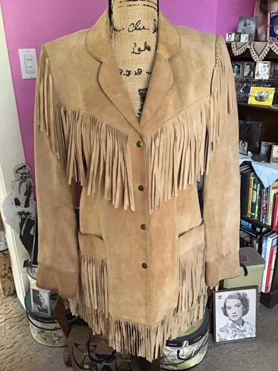 Vintage 1980's 1990's Jacket Genuine Suede/Leather
