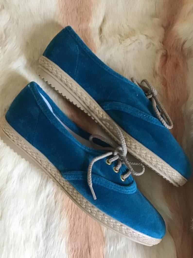 Vintage 1960 Scarpe Deadstock Sneakers Aqua Color Velvet Il Yp7HC9zE