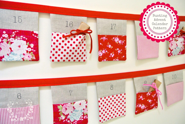 Pattern 24 Pocket Bunting Advent Calendar PDF Pattern | Etsy
