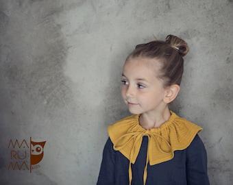Ruffle collar Kids accessories Muslin collar Collar necklace Peter pan collar Detachable collar Girls removable collar