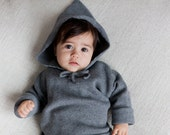 Baby knitwear Baby Clothes Toddler clothes Knit Hoodie sweater Baby clothing Baby gift Gray Coming home outfit