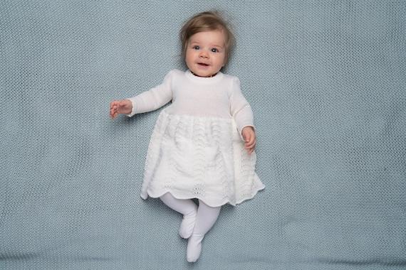 Baby Mädchen Taufe Outfit Vintage Look Knit Baby Mädchen Schneewittchen Taufkleid Mit Spitze Motorhaube Erster Geburtstag Kleid Baby Kommt Nach Hause