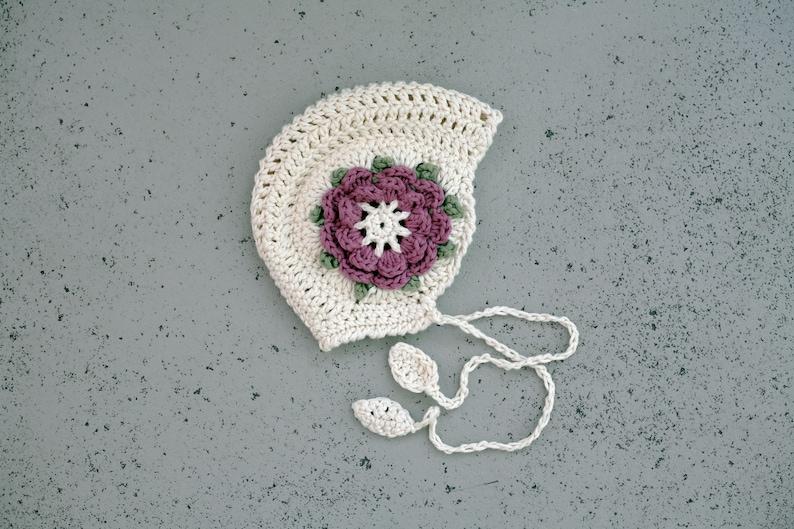 Handmade baby bonnet Vintage look crocheted girls hat Baby  654db59dc422