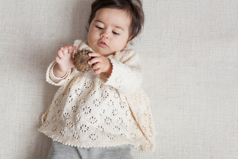 427544415bbd Baby girl clothes Baby girl lace sweater Tunic Baptism clothes | Etsy