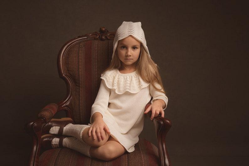 26badbc4f80d4d Meisjes kleding doopsel outfit brei luxe meisjes witte jurk