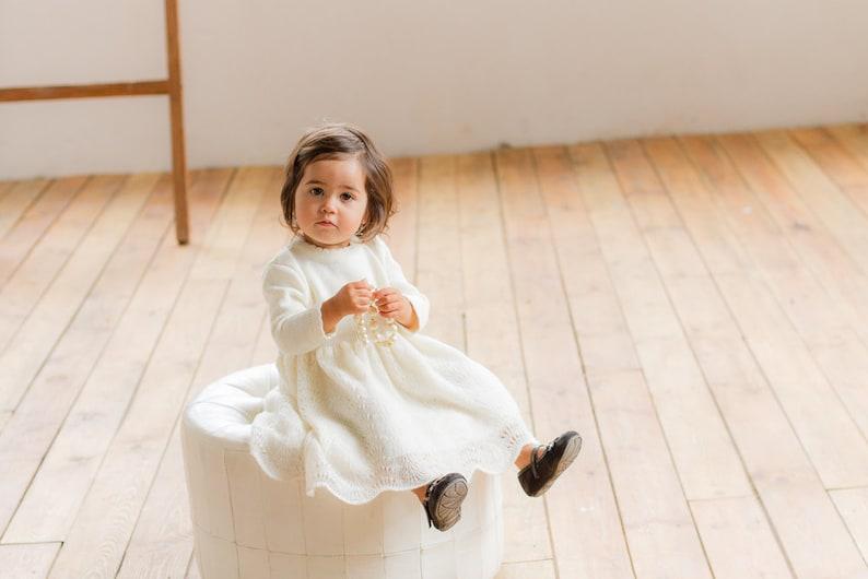 693d02e30c2 Baptism Dress Baby Girls Lace dress Flower girl Natural white