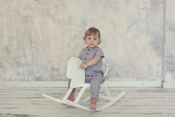 ca560af31db Linen romper Linen jumpsuit Baby linen clothes Baby jumpsuit