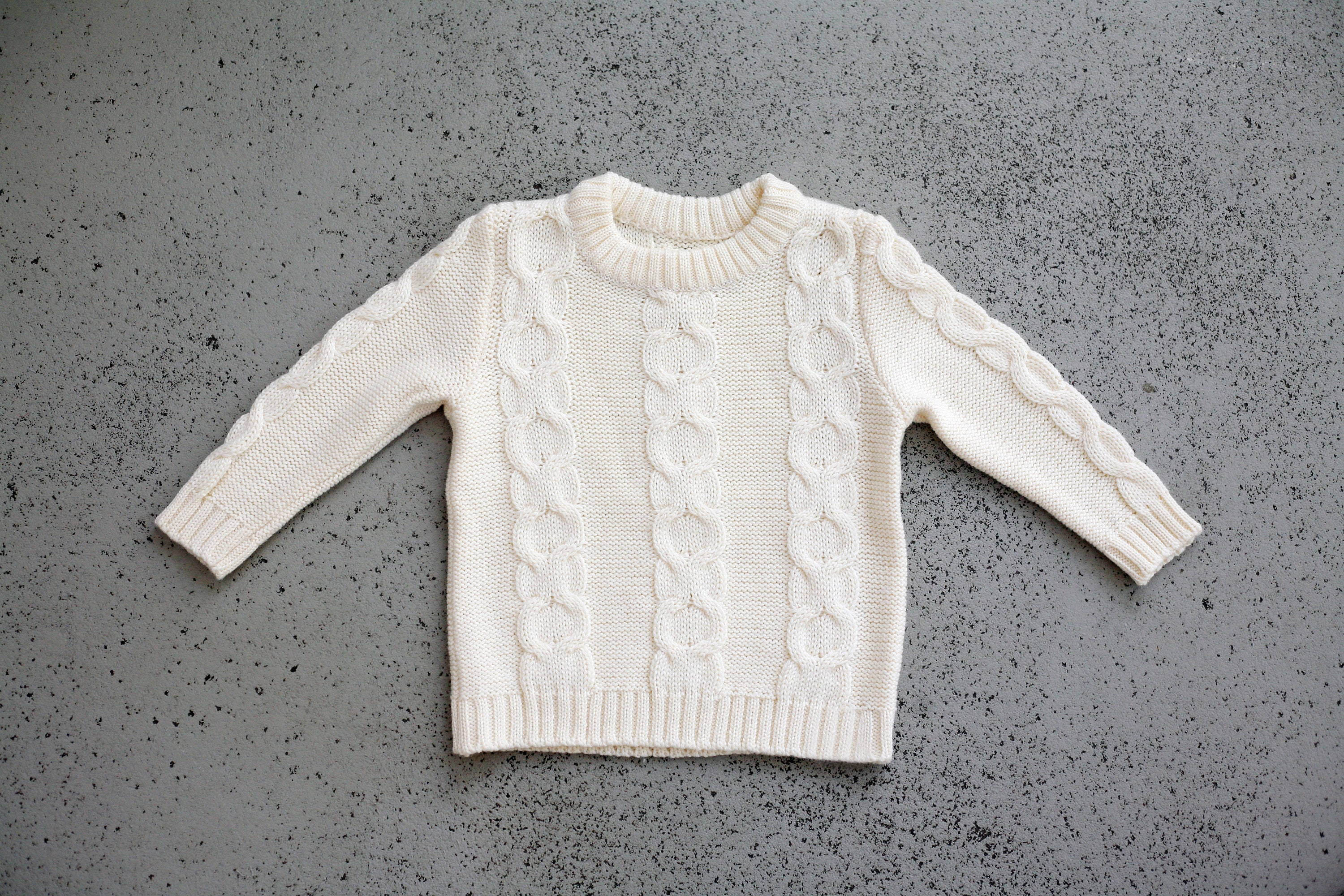 bca560903307 Knit sweater Baby Clothes Toddler clothes Knit cable sweater