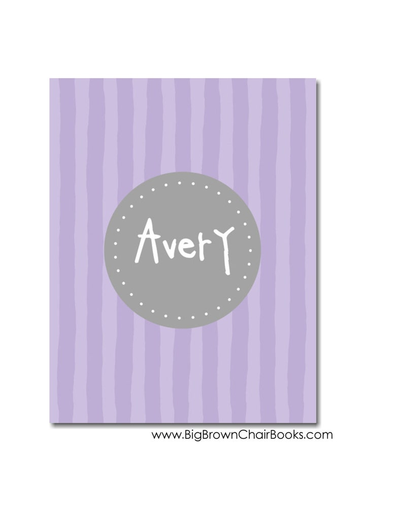 Hardcover Baby Book  First Year Memories Violet Scrapbook image 0
