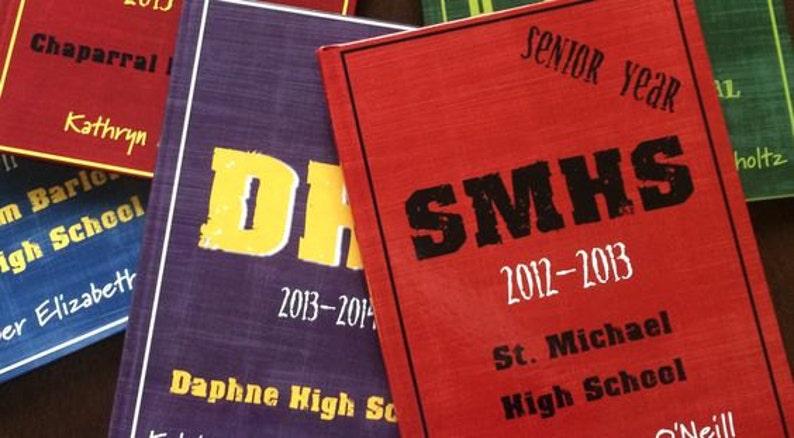Hardcover Memory Book  High School Senior Year  Class of image 0