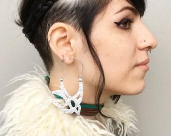 Sparrow hoop earrings, brass sparrow hoop earrings, bird hoop earrings, metal bird earrings, sparrow jewelry