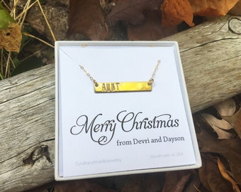 bar Initial necklace with birthday card,monogram jewelry,Personalized Bar necklace, Bar Monogram Necklace, Contemporary Bridesmaid's jewelry