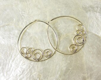 Loopy Hoop Earrings by VIX in Sterling Silver