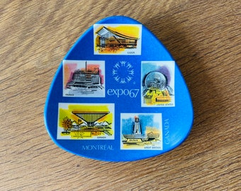 Mid Century Mod Collectable From Canada Canadian Pride Gift 1967 Montreal Expo Souvenir Plate