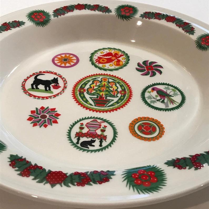 Christmas  Pie Serving Plate by Portmeirion Spirit of Christmas 1983 England