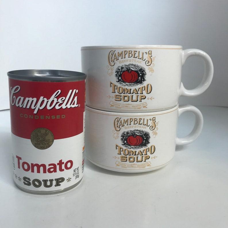 593754bb4ed Vintage Campbell's Tomato Soup Mugs / White Tomato Soup Bowl 1994