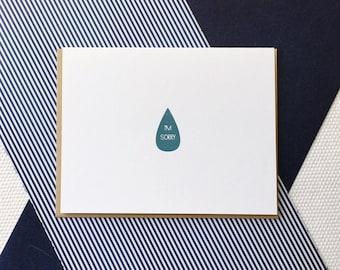 I'm Sorry - Gocco Printed Card
