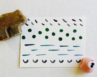 Geometric Watercolor Notecard