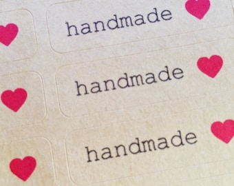Handmade with Love Stickers / Labels