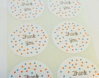 "Fun Confetti Labels ""Thank You"""