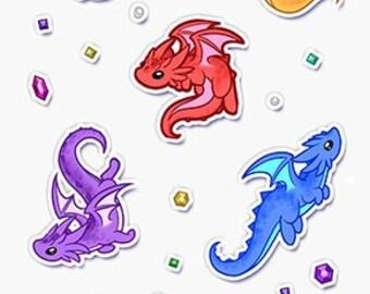Savory Dragons Sticker Sheet   Etsy