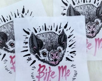 "Bite Me! - 6"" x 6"" Bat Patch"