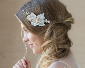 Wedding headpiece, Bridal hair comb, Rustic hair piece, Burlap wedding, Wedding hair comb, Rustic Wedding Hair accessories, Floral hair comb