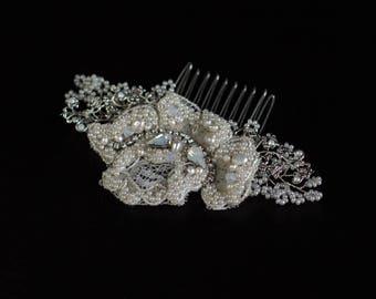Braut Spitze Kopfschmuck Hochzeit Haarkamm, Braut Kopfschmuck, kristallhaarkamm, hochzeitsperlenkopfschmuck, Braut Haar-Accessoires,