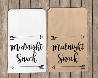 Midnight Snack Wedding Treat/Favor/Reception/Goodie/Candy Bags