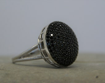Sterling Silver & Spinel - Stunning Cocktail Ring - Size: UK N 1/2, US 7