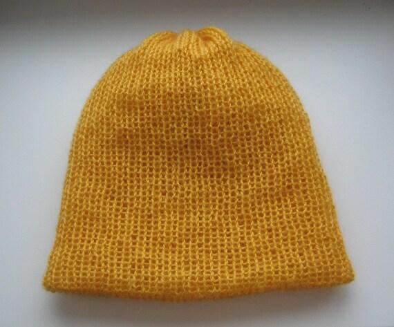 dark yellow slouchy mohair beanie 301ff6e5fce