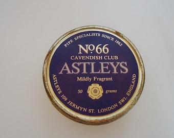 The Astleys Pipe Tobbaco Round Tin.70s