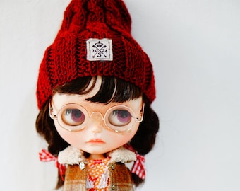 Sugarbabylove -Red Beanie for Blythe