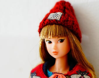 Sugarbabylove -Red Beanie for Momoko