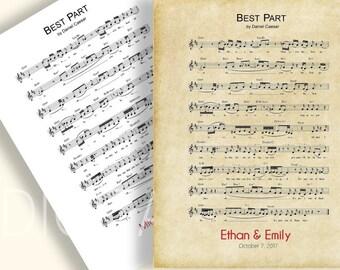Custom sheet music   Etsy