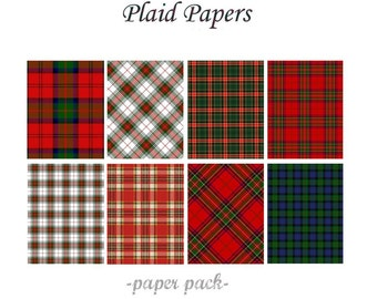 christmas plaid papers scottish tartans and xmas plaids digital paper pack 10 scottish plaid printable papersinstant download digital - Christmas Plaid