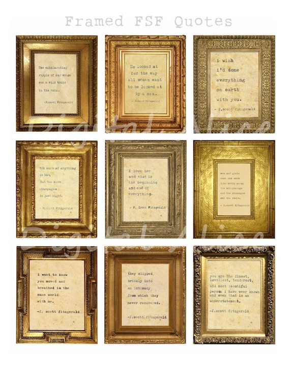 Framed Love Quotes The Great Gatsby F Scott Fitzgerald Etsy
