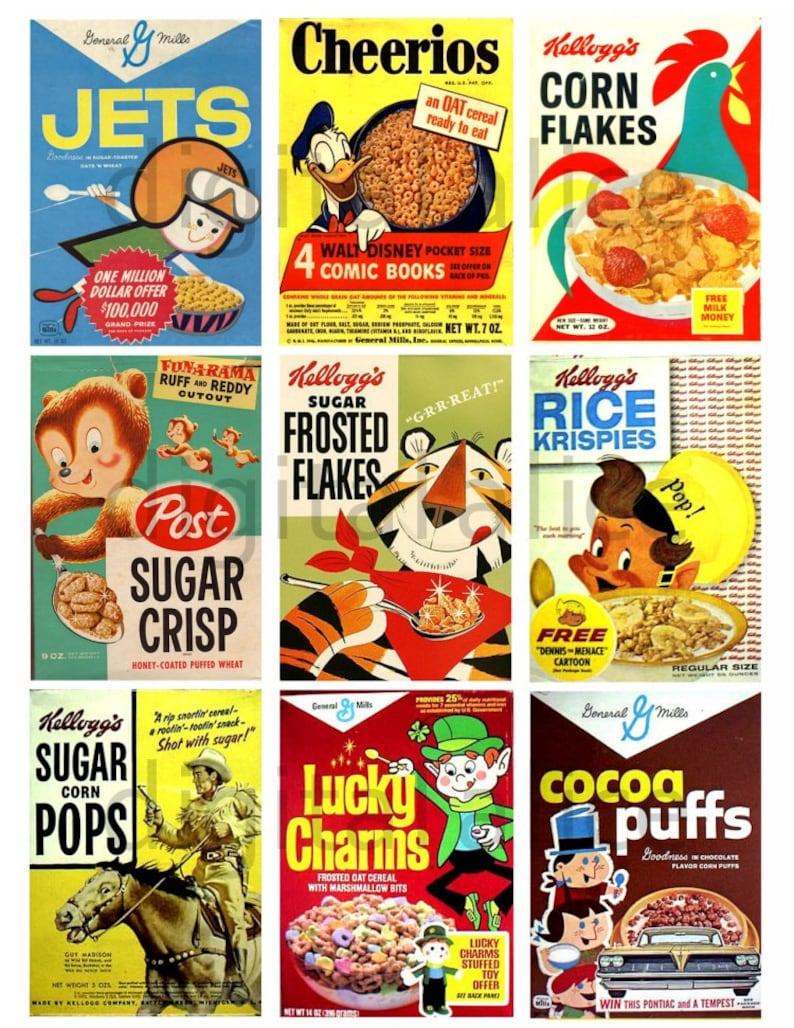 Vintage Cereal Boxes 1 Digital Download Collage Sheet Play Etsy