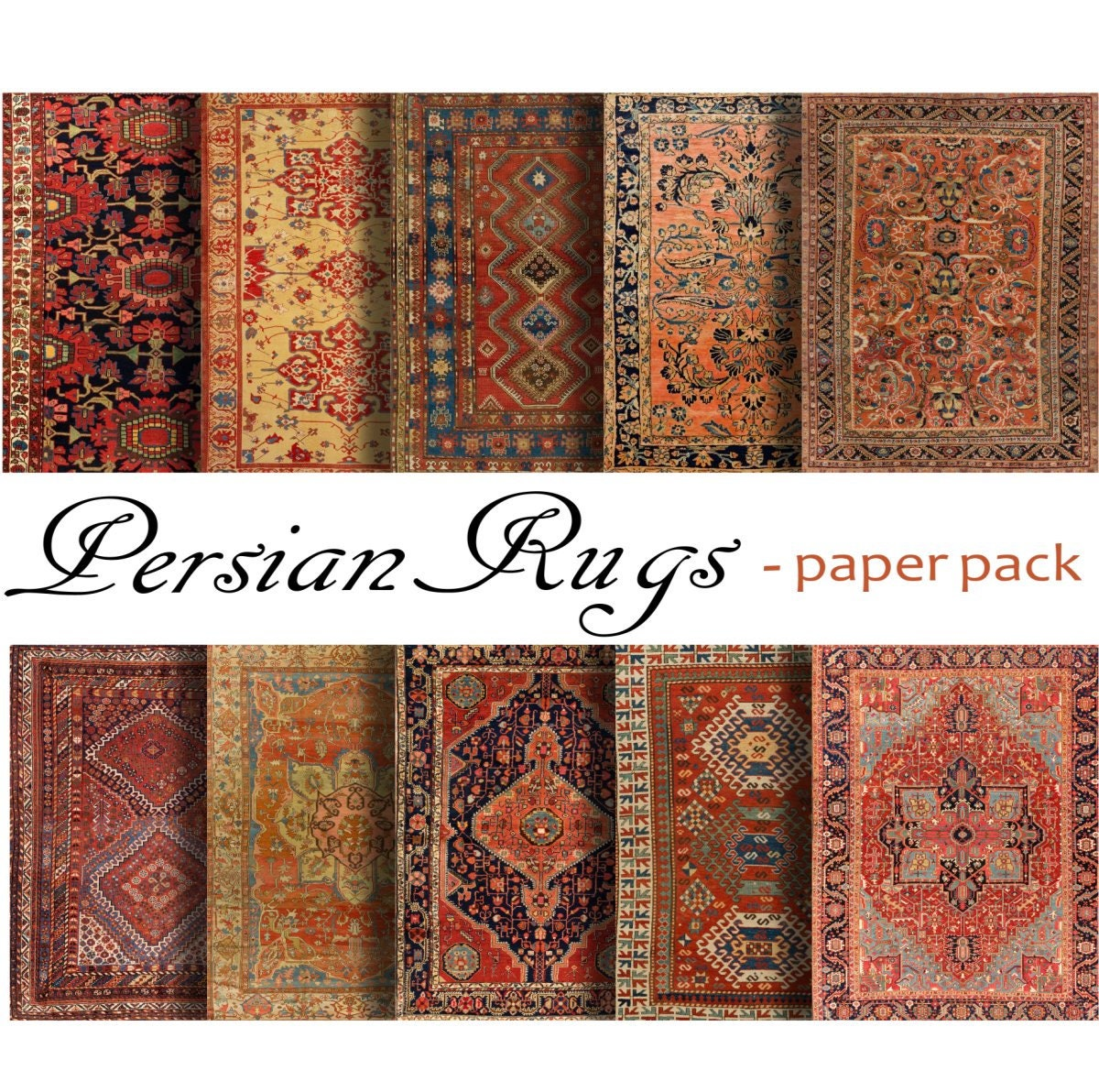 ORIENTAL RUGS PAPER Printable Papers Download Antique