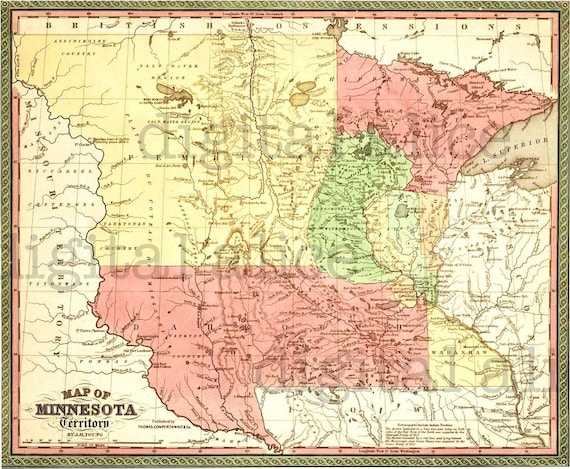 Colorful VINTAGE MINNESOTA MAP -Instant Download Digital Printable- on ind map, shakopee map, eagan map, tresure map, london map, plymouth map, wisconsin map, mille lacs lake map, mankato map, hastings map, bloomington map, edina map, blaine mn map, minnesota map, mn highway map, moorhead map, michigan map, texas map, minneapolis map, mich map,